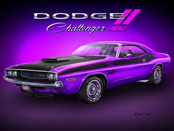 1970 Dodge Challenger Muscle Car Metal Sign