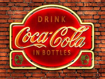 Coca-Cola Neon Look Metal Sign
