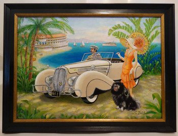 Delahaye on the French Riviera by Lee Dubin Framed Original