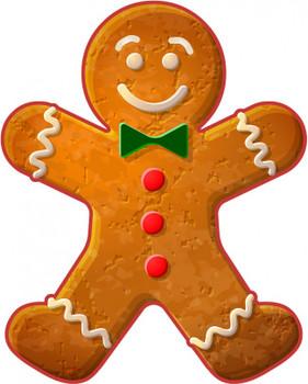 Gingerbread Cookie metal Sign
