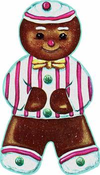 Gingerbread Man Cookie Plasma Sign