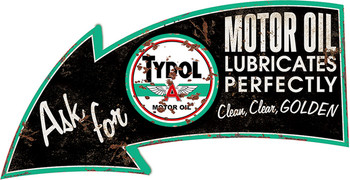 "Tydol Motor Oil Laser Cut Arrow 18"" Rustic"