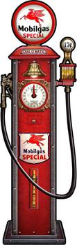 Mobilgas Clock Face Gas Pump by Michael Fishel Plasma Cut Sign