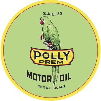 "Polly 12"" Premium Motor Oil Round Metal Disk"