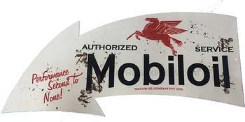 """Mobiloil 18"""" Arrow Metal Sign"""