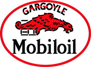 "Gargoyle Mobiloil 18"" Oval Metal Sign"