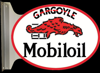 "GARGOYLE MOBIL OIL 18"" OVAL FLANGE SIGN"