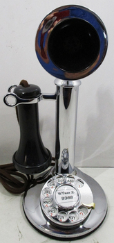 Western Electric Candlestick / Rotary Dial 50AL Chrome Plated Circa 1920's