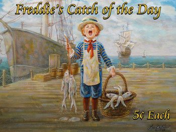 Freddie's Catch of the Day Little Peddlers by Lee Dubin