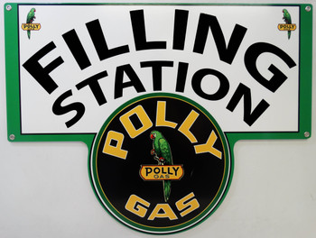 POLLYGAS FILLING STATION Metal Sign