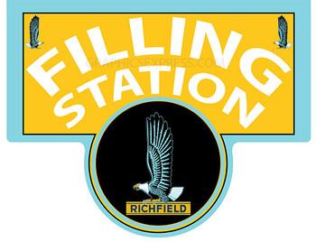 RICHFIELD FILLING STATION Metal Sign