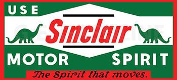 SINCLAIR MOTOR SPIRIT Metal Sign