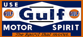 GULF MOTOR SPIRIT Metal Sign