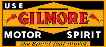 GILMORE MOTOR SPIRIT Metal Sign