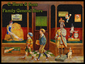 C Hurst and Sons Family  General Store by Lee Dubin