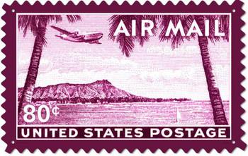 Air Mail 80c Hawaii (large)