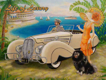 Life of Luxury Delahaye by the Sea by Lee Dubin