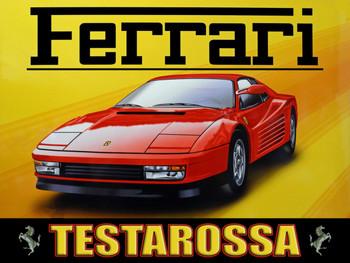 Ferrari  Testarossa Metal Sign