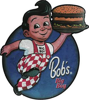Bob's Big Way Distressed Metal Sign