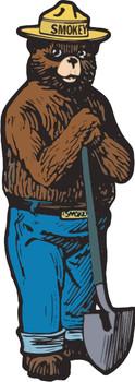 Smokey The Bear Plasma Cut Metal Sign