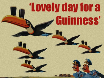 Lovely Day for a Guinness Ad Metal Sign