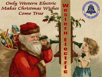 Making Christmas Wishes Come True Western Electric Phone Ad