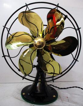 Emerson 6 Brass Blade 12 in Model 71666 3-Speed Oscillating Fan