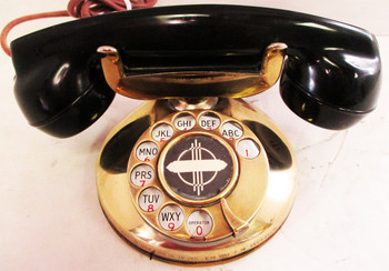 1930'S Western Electric Brass Model #201 Round Base ( Restored & Operational )