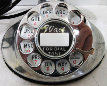 1930'S Western Electric Chrome Model #202 Oval Base ( Restored & Operational )