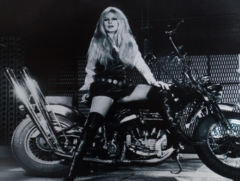 Bridgette Bardot on Motorcycle