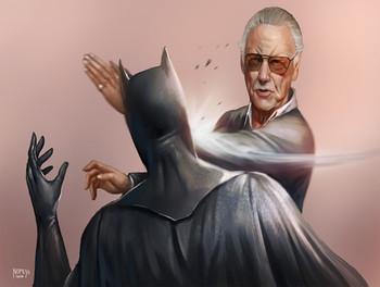 Stan Lee Slapping Batman