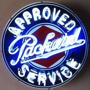 Packard Neon Advertising Sign