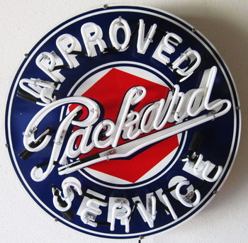 Packard Neon Advertising Sign