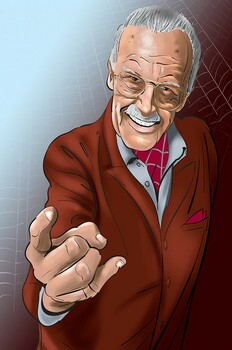 Stan Lee Suit Up Metal Sign