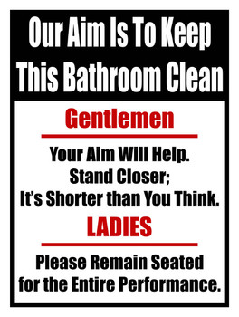 Keep this Bathroom Clean Metal Sign