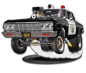 Mopar Police Cop Car Heat Plasma Cut Metal Sign