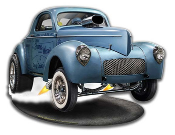 SWC Willys Gasser Metal Sign