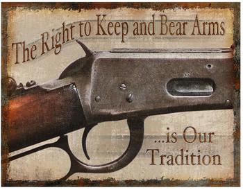 Keep and Bear Arms Metal Sign