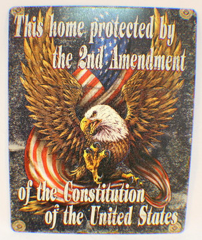 Home Protected by Second Ammendment Metal Sign