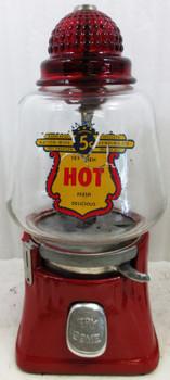 Silver King Hot Peanut 5C Dispenser 1940's
