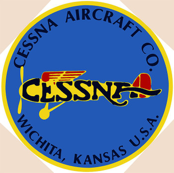 "Cessna Aircraft Co. 14"" Round Metal Sign"