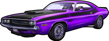 1970 Purple Dodge Challenger Plasma Cut  by Michael Fishel