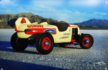 Gilmore Racer / Salt Flats Metal Sign