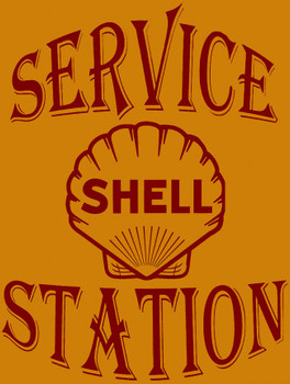 Shell Service Station Metal Sign