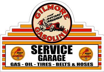Gilmore Service Garage Plasma Cut Metal Sign