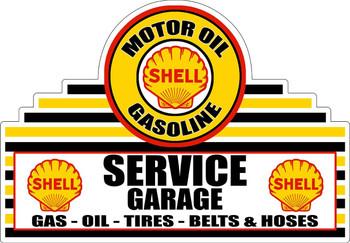 Shell Service Garage Plasma Cut Metal Sign