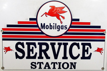 Mobilgas Service Station Plasma Cut Metal Sign