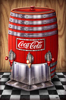 Coca-Cola Barrel by Michael Fishel