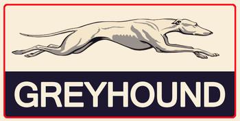 Greyhound Motor Fuel Metal Sign