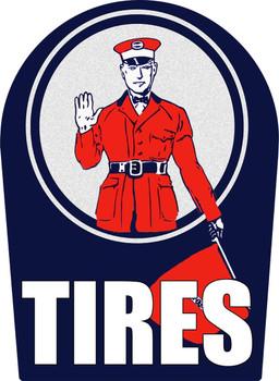 Hood Tires Plaque Plasma Cut Metal Sign